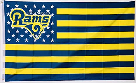timeless design 66fa5 40aa1 LA Rams Nation Los Angeles Rams Flag, 3 x 5 Feet for Indoor or Outdoor Use