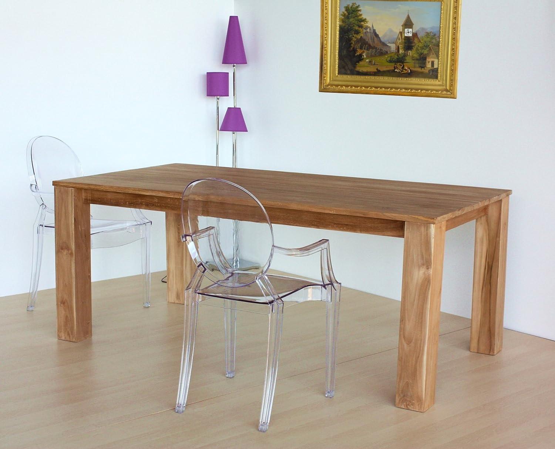 Tavolo da pranzo in VERO Teak NATURALE legno massello ...