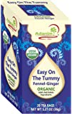 """Adanim Ginger & Fennel Herbal Tea Bags - Organic""""Easy on the Tummy"""" Digestive Relief Tea (Pack of 4, 80 count)"""