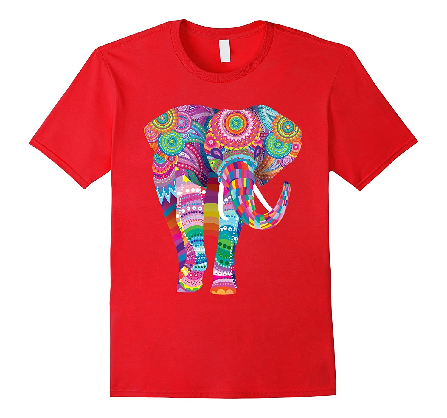colorful awesome elephant tee. Birthday or holiday gift idea-FL
