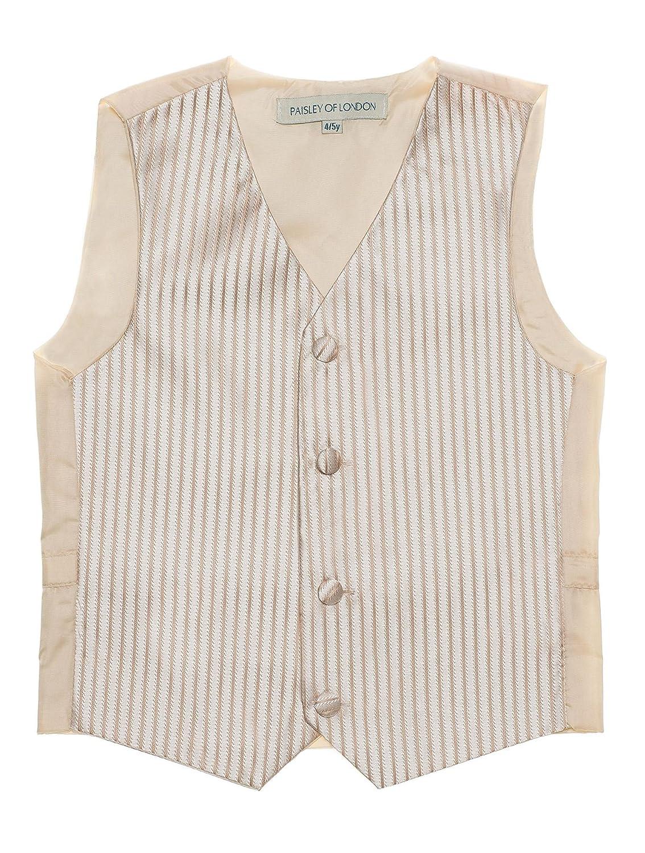 Paisley of London 14 years Striped waistcoats Boys gold waistcoat cravat /& hanky set 3m