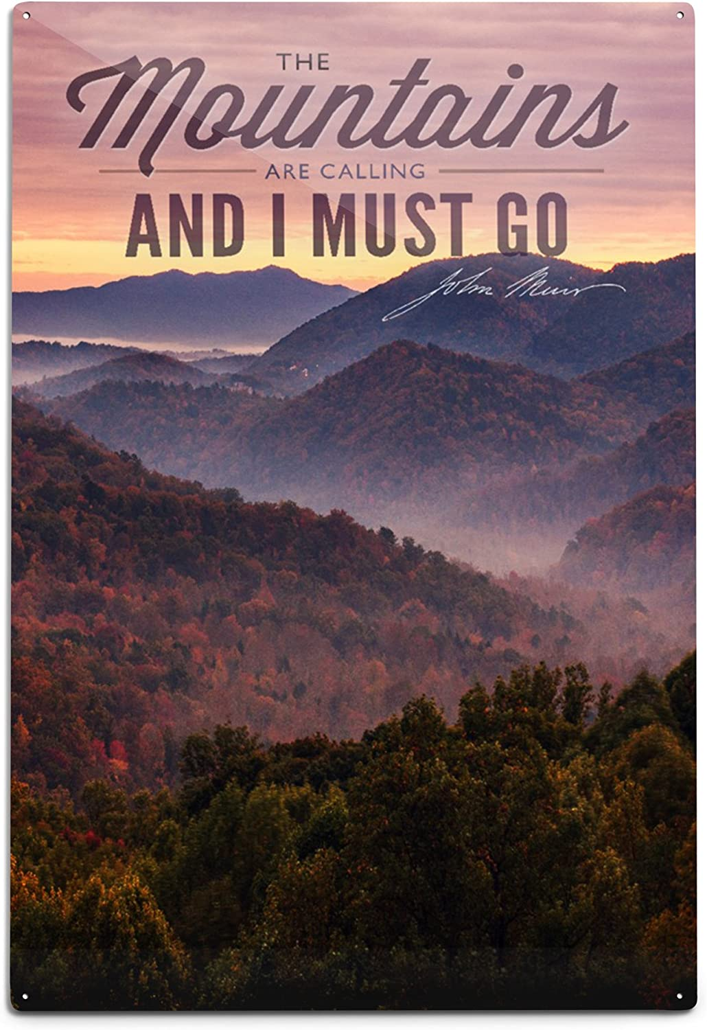 Sunset 36x54 Giclee Gallery Print, Wall Decor Travel Poster John Muir The Mountains are Calling