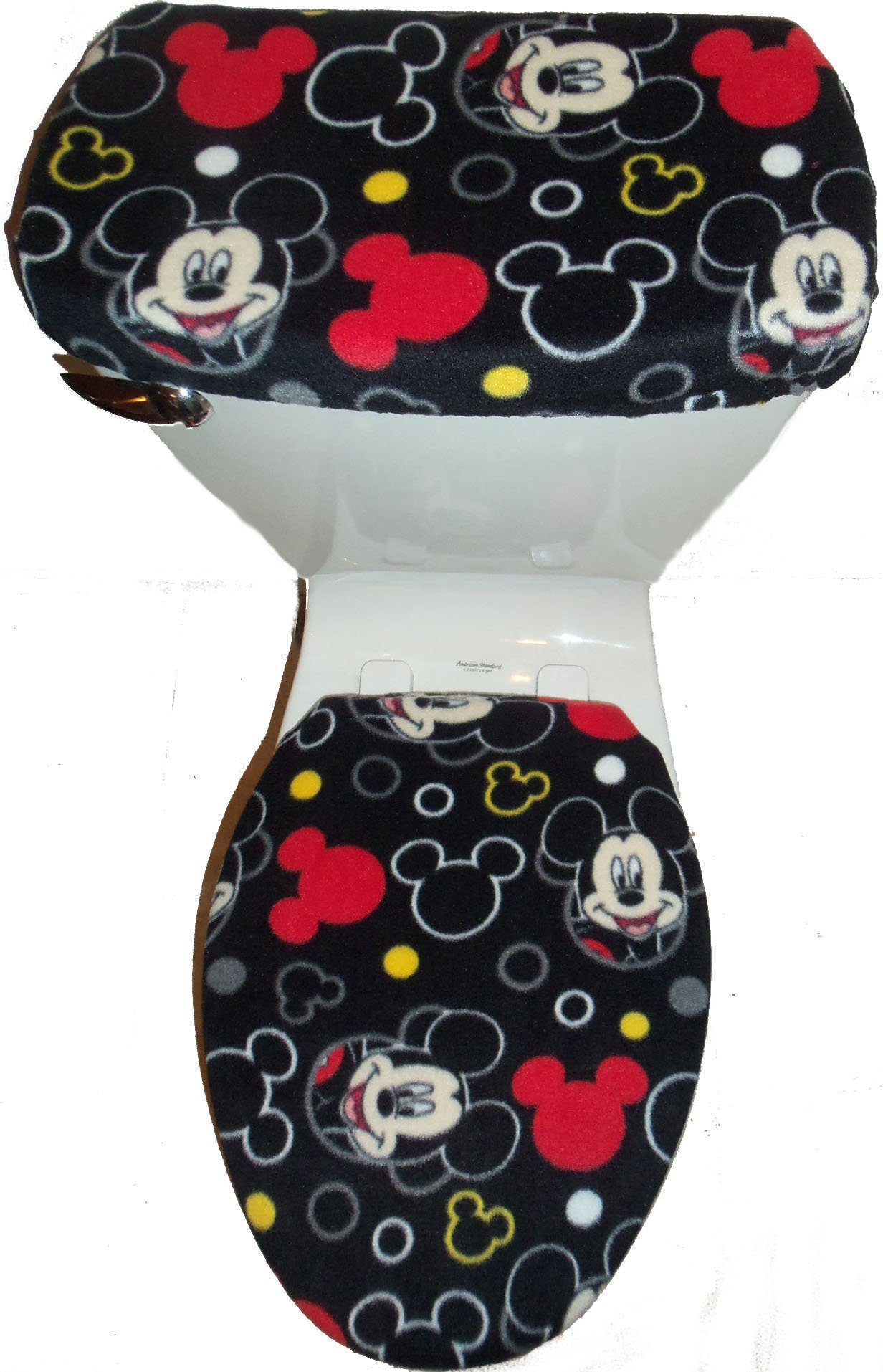 Rock'N Deals Seller Black Fleece Toilet Seat Cover by Rock'N Deals Seller