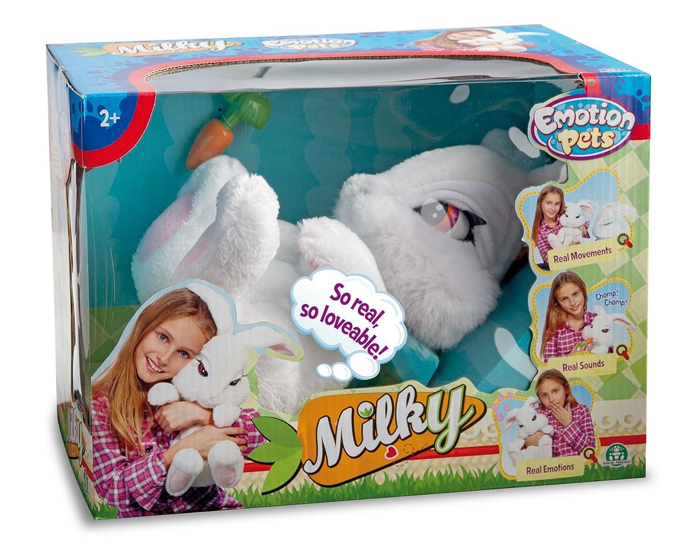 Giochi Preziosi - Milky interactivo, conejito de peluche color blanco [Importado]: Amazon.es: Juguetes y juegos