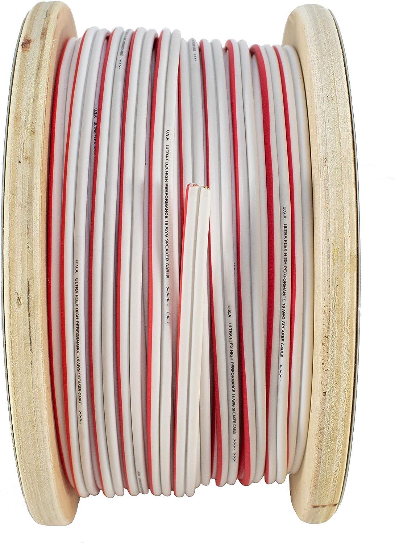 16 AWG GA 10FT Marine Grade Red White Speaker Wire OFC Ultra Flex