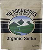 MSM Organic Sulfur Crystals by No Boundaries Health and Wellness – All-Natural, Premium Health Supplement: 99.9% Pure MSM – Benefits: Joint Pain, Allergies, Skin, Hair & Nail Health – No Fillers