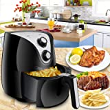 SUPER DEAL Electric Air Fryer XL 3.7 Quart W/ Timer, Temperature Control , Detachable Dishwasher Safe Basket, Fry Healthy with 80% Less Fat