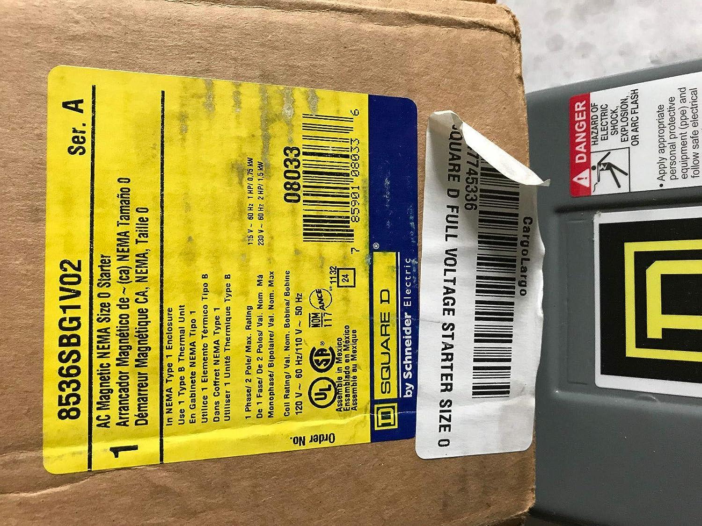 Amazon.com: NEW SQUARE D 8536SBG1V02,NEMA 0,SQUARE D 8536SBG1,120V MOTOR STARTER,AG: Everything Else
