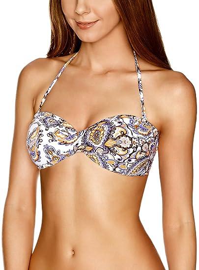 oodji Ultra Mujer Sujetador Bikini Bandeau (sin Tirantes), Morado, 70A / 32A: Amazon.es: Ropa y accesorios