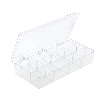 Amazoncom 12 Clear Jewelry Bead Organizer Box Storage Container