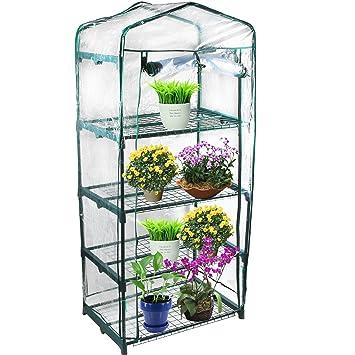 Amazoncom Kendal Garden Mini Greenhouse 4 Tier Garden Outdoor
