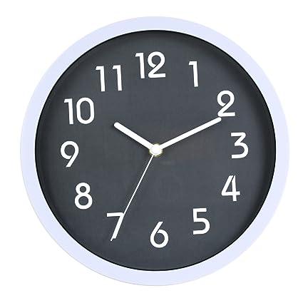 nice looking modern wall clocks amazon. HITO Modern Colorful Silent Non ticking Wall Clock  10 Inches Gray Amazon com