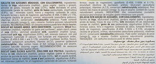 Galletas virginias novaforma con soja sin azúcares añadidos 215 g: Amazon.es: Alimentación y bebidas