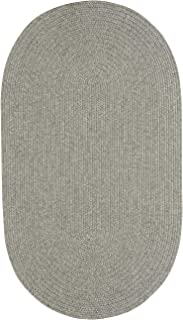"product image for Candor Green 8' 0"" x 11' 0"" Oval Braided Rug"