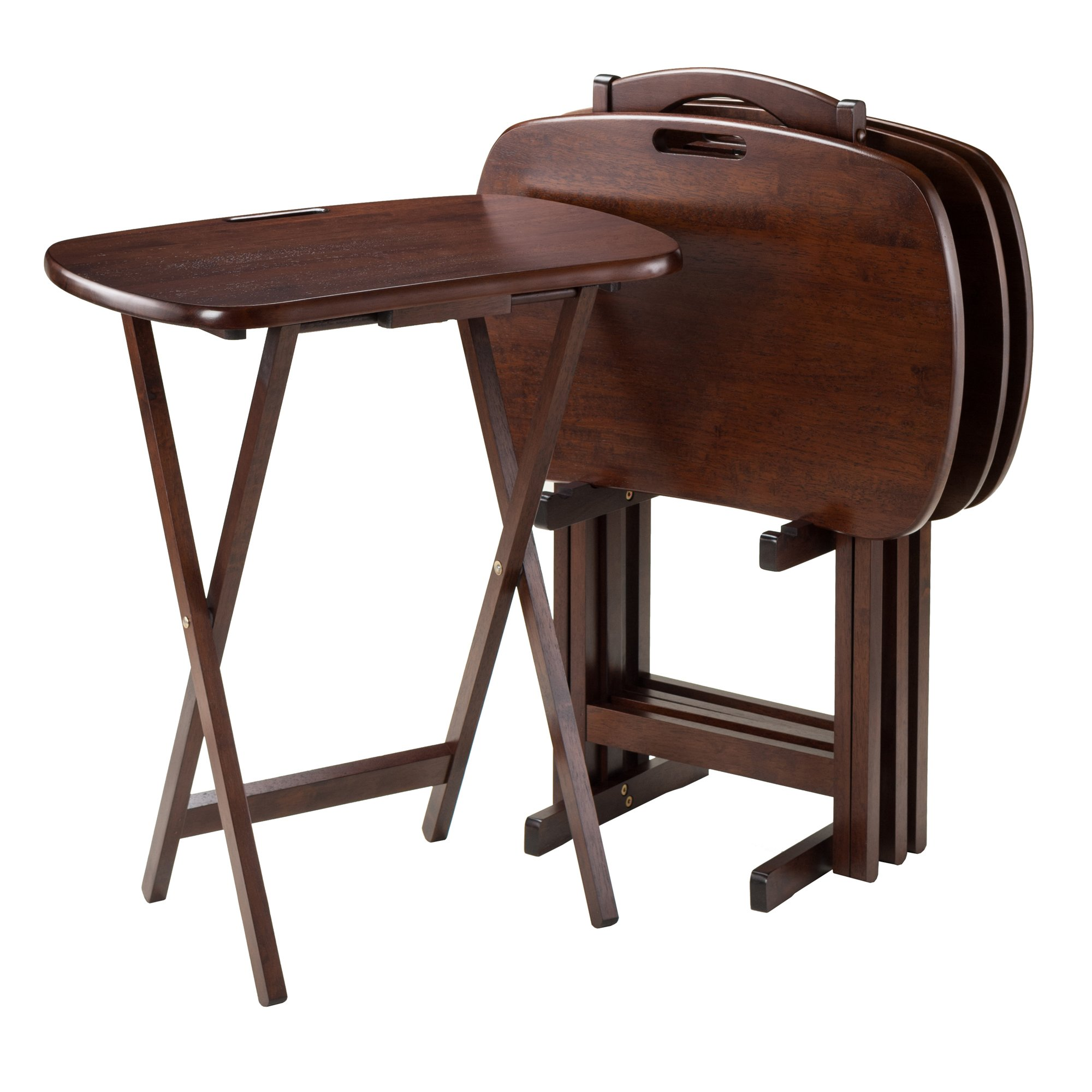 Winsome Lucca Snack Table, 22.83″ W x 25.79″ H x 15.67″ D, Brown