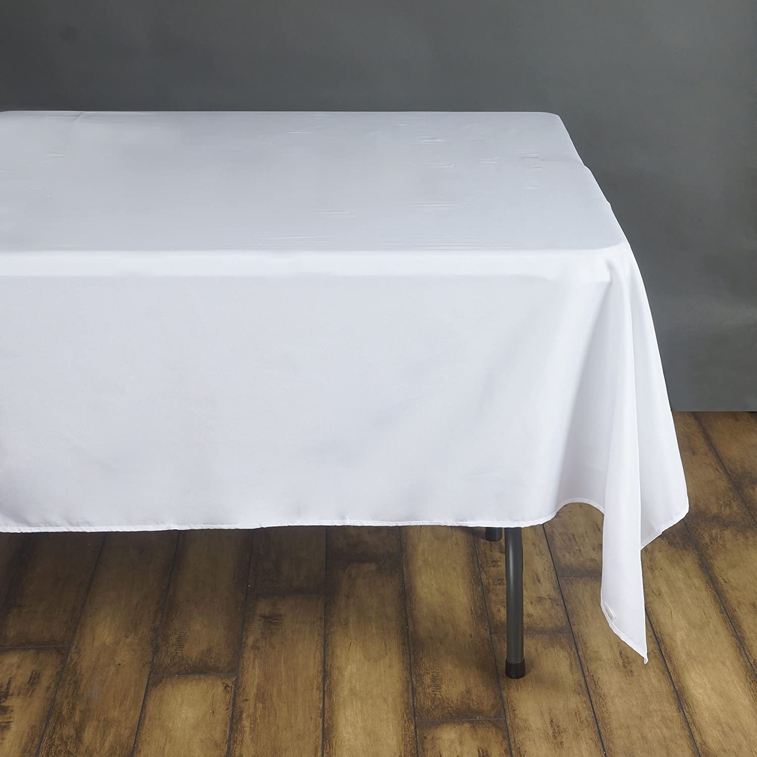 Amazon.com Efavormart 90\  White Wholesale Linens Polyester Square Linen Tablecloth for Kitchen Dining Catering Wedding Birthday Party Events Home \u0026 ... & Amazon.com: Efavormart 90\