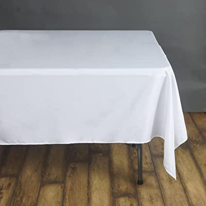 Phenomenal Efavormart 90 White Wholesale Linens Polyester Square Linen Tablecloth For Kitchen Dining Catering Wedding Birthday Party Events Download Free Architecture Designs Embacsunscenecom
