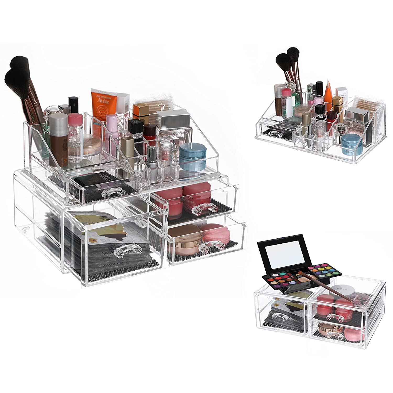 Songmics Extra Large Size Clear Acrylic Cosmetic Makeup Display Case Organizer