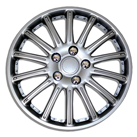 tuningpros wsc-007s15 Tapacubos rueda Skin Cover 15-inches plata conjunto de 4