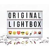 "Ginger Snap Insegna Luminosa ""Cinema Light Box"", 85 lettere, numeri e simboli"
