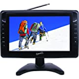 SuperSonic SC-2810 Portable LCD Digital AC/DC TV 10-Inch: Built-in USB and SD Card Reader   Handheld Television
