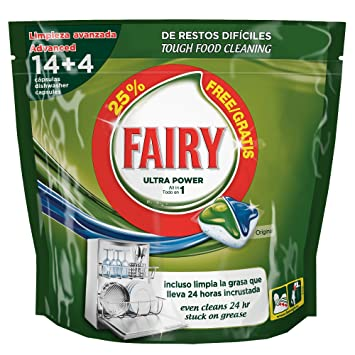 Fairy Ultra Power Original Cápsulas para Lavavajillas, 14 Cápsulas ...