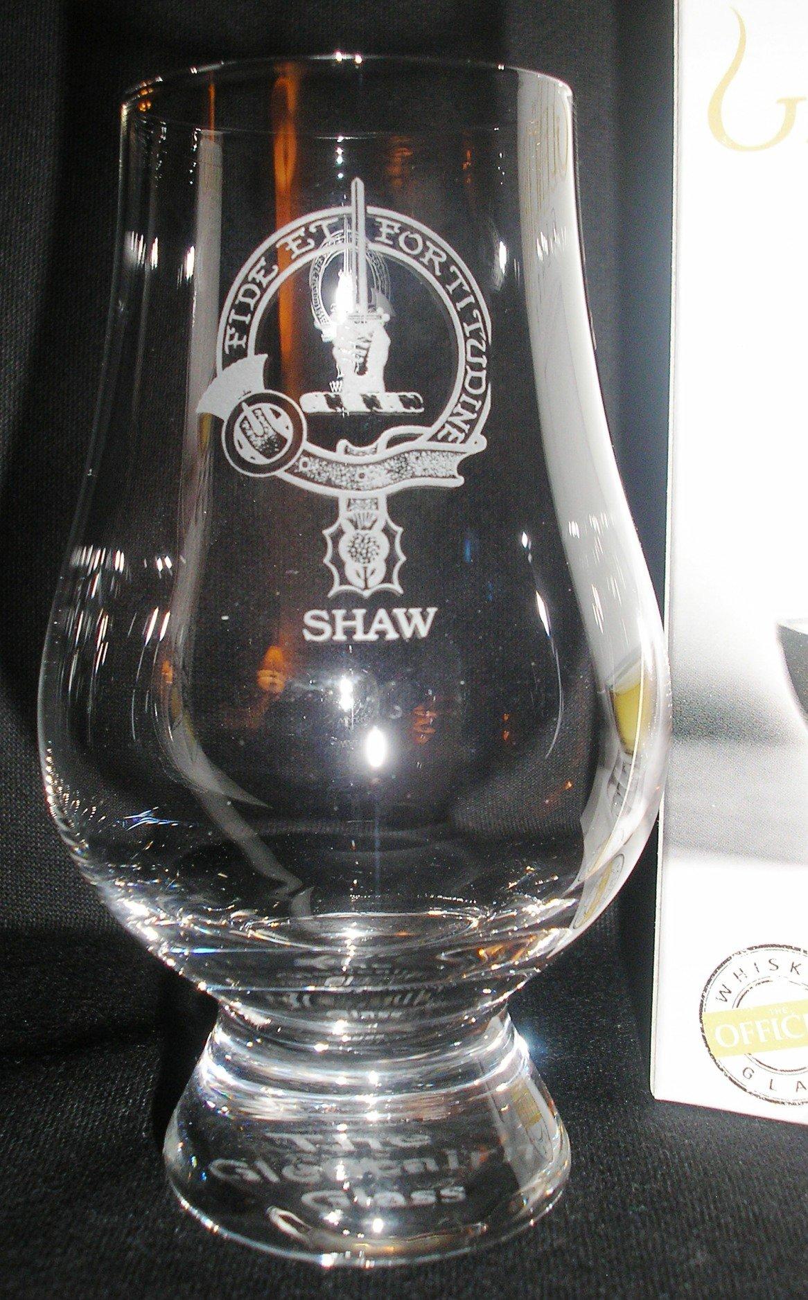 CLAN SHAW GLENCAIRN SINGLE MALT SCOTCH WHISKY TASTING GLASS