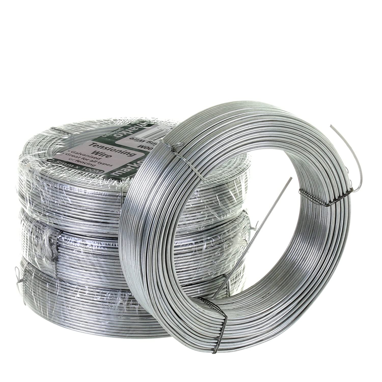 Marko Galvanised Wire Heavy Duty 100 Meters X 2.5MM Garden Fencing ...