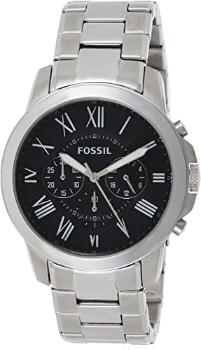 Fossil Grant Stainless Steel Quartz Chronograph Watch for Men