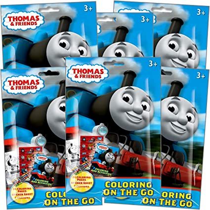 - Amazon.com: Thomas The Train Coloring Pack Party Favors In Resealable  Pouches (Stickers, Crayons And Coloring Activity Book) - Set Of 6: Toys &  Games