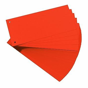 Herlitz Carton - Separadores para archivadores A4, naranja (Paquete de 100): Amazon.es: Oficina y papelería