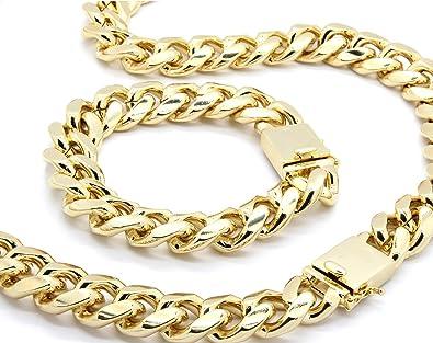 66315dad1e2fa Mens Gold Tone Big Heavy Cut Hip Hop 18mm 30