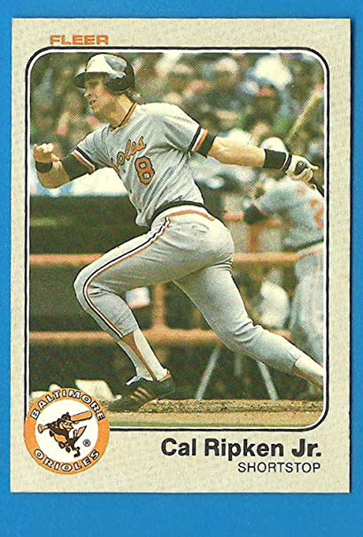 1983 Fleer Cal Ripken Jr Baseball Card 70 2nd Year
