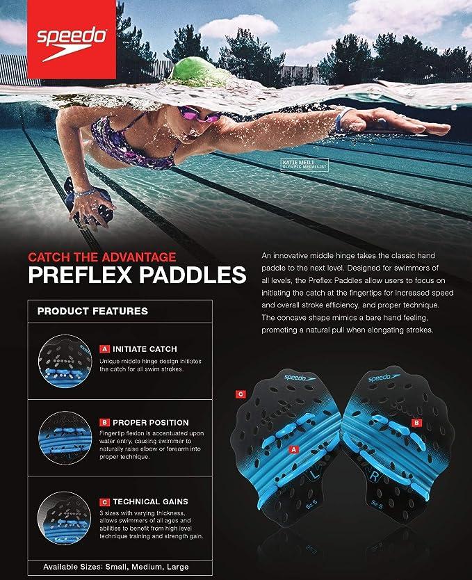 Swim Swimming Power Plus Hand Paddles Training Workout Pool Aid Adjustablel