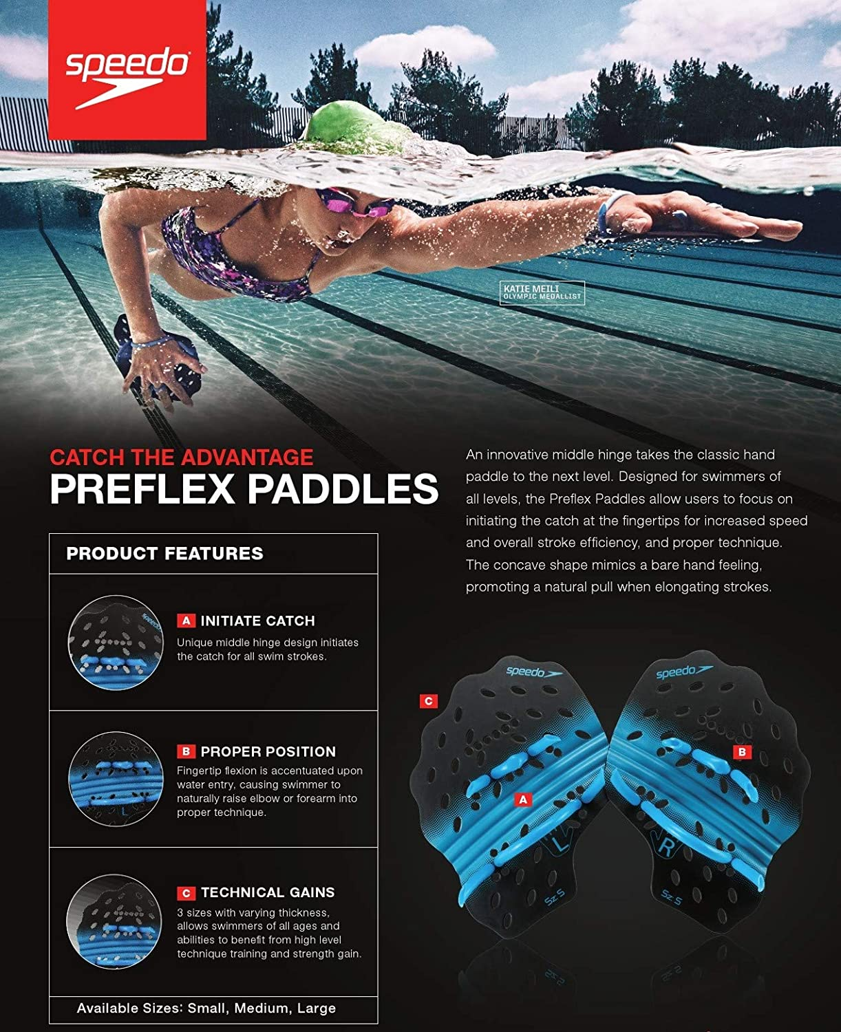 Amazon.com: Speedo Preflex - Palas de natación: Sports ...