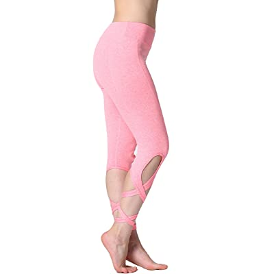 RUNNING GIRL Belly Dance Yoga Leggings Strappy Lace Up Tights Workout Gym Pants