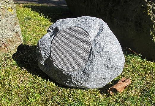 Altavoz de jardín, inalámbrico vía Bluetooth, diseño con apariencia de roca: Amazon.es: Jardín