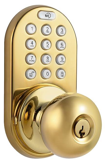 Keyless Door Entry >> Milocks Dkk 02p Electronic Touchpad Entry Keyless Door Lock Polished Brass