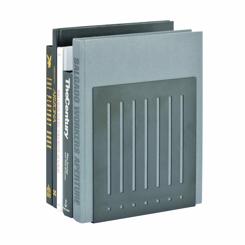 STEELMASTER Heavy Duty 10-Inch Steel Bookends, 1 Pair, Black (241100004) by STEELMASTER (Image #2)