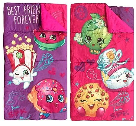 quality design ae1c1 6fb68 Shopkins Toys Reversible Sleeping Bag and Sling Sack Set ...