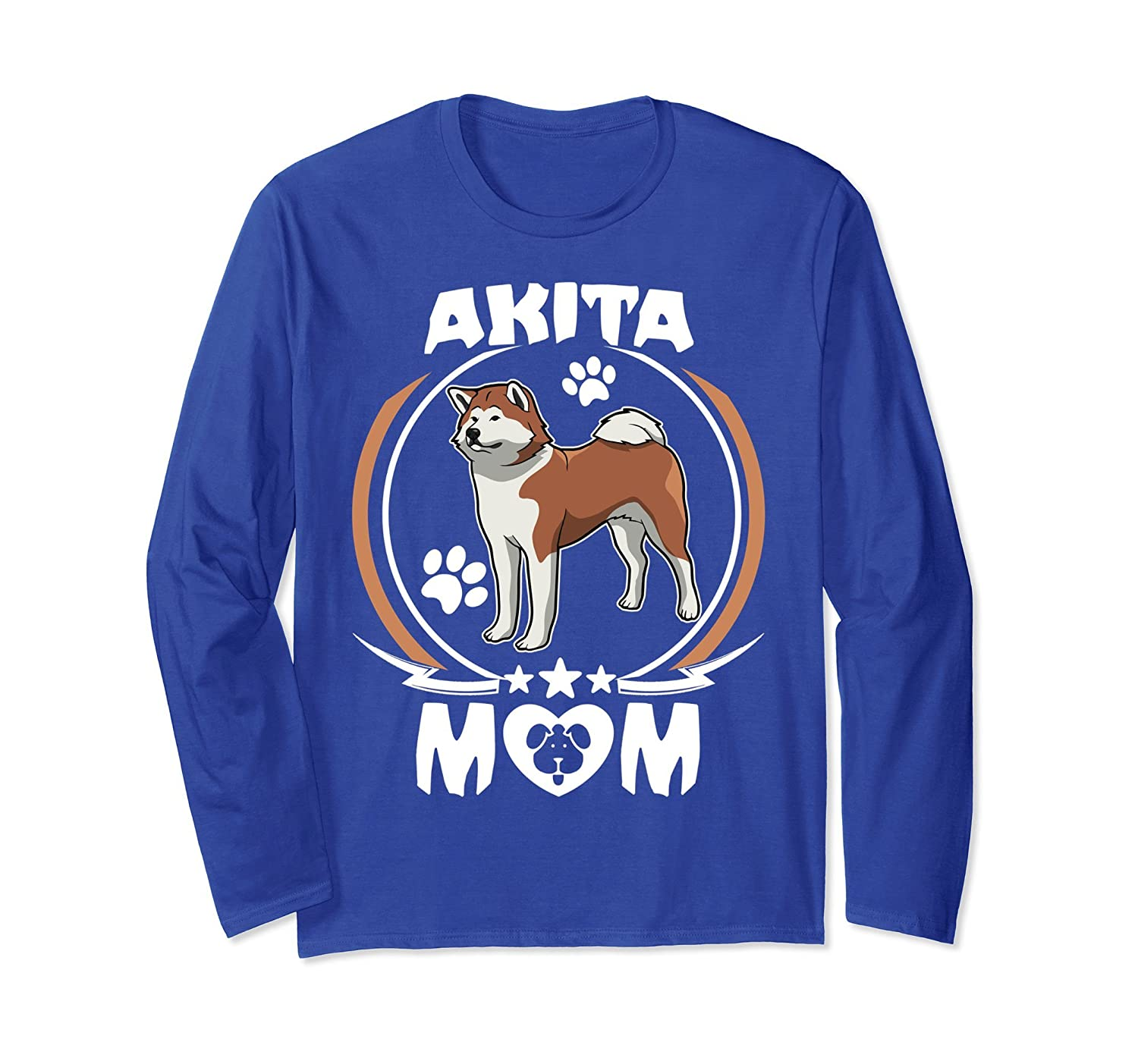 Akita Mom Long Sleeve Mother's Day T-shirt For Dog Lovers-alottee gift