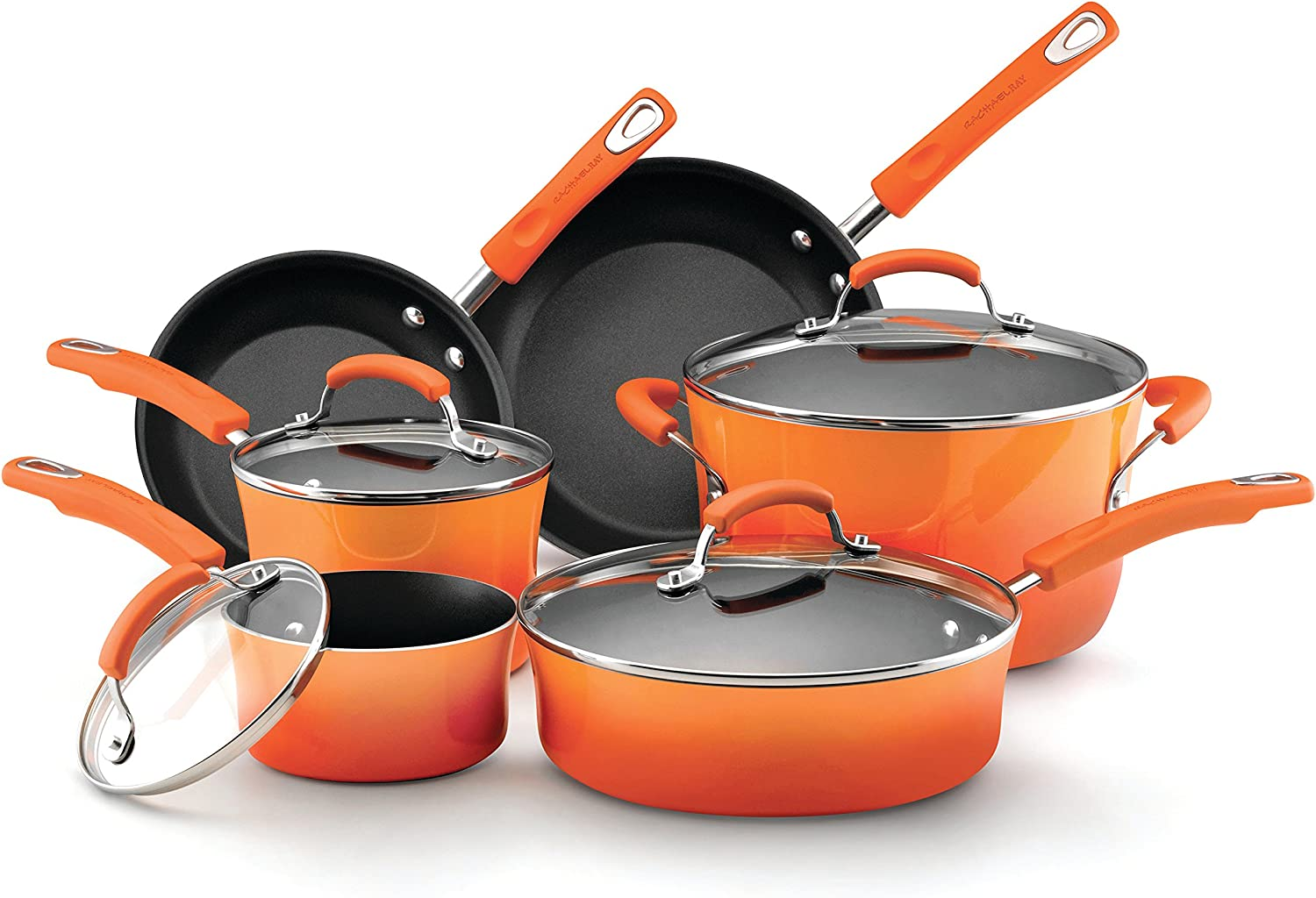 Rachael Ray Brights Cookware Pots and Pans. Pots & Pans Cookware Sets Healthiest Cookware.