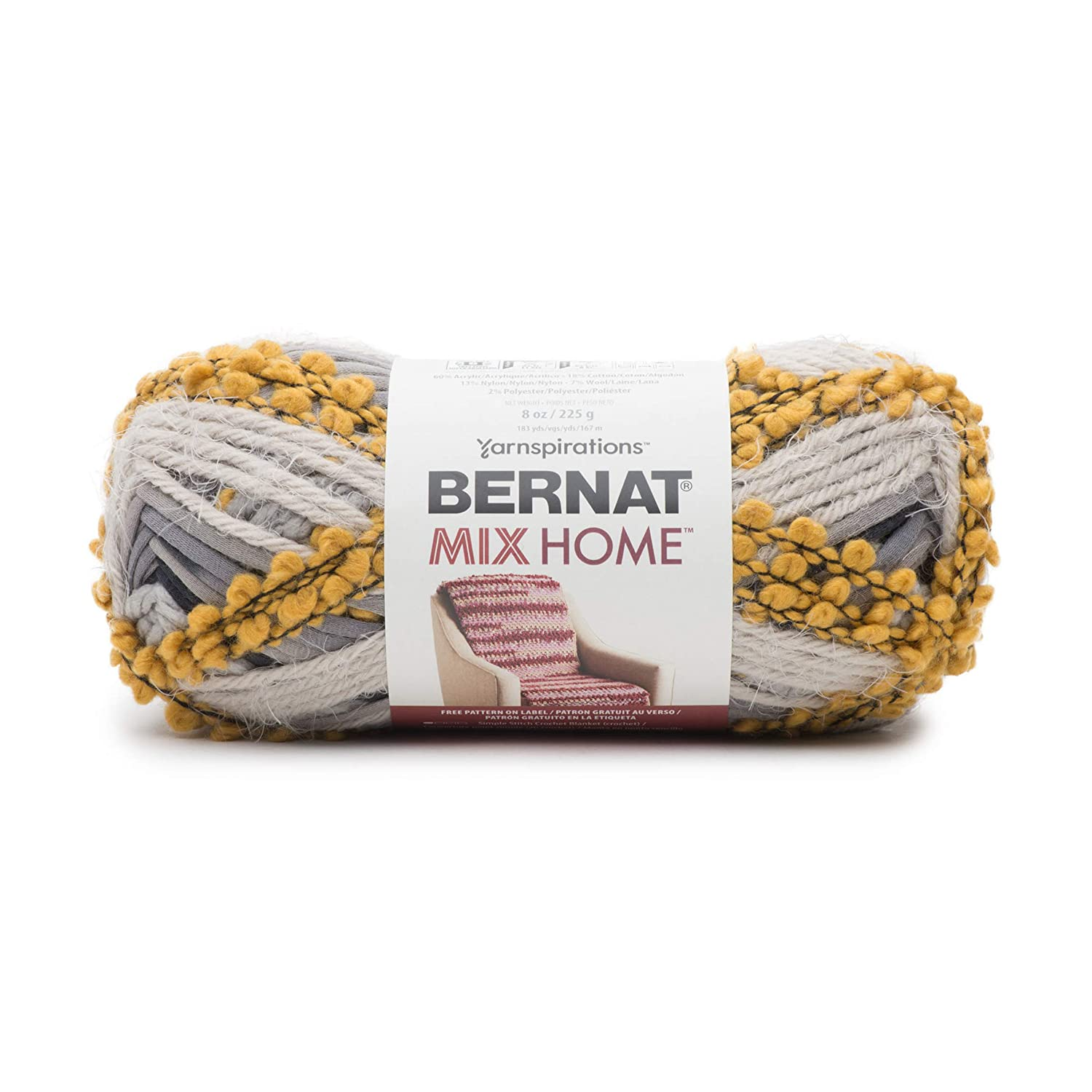 Bernat Mix Home Yarn-Goldmine 2 Pack