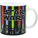 Star Wars Mug, Lightsabers Come Up With Heat (12 oz)