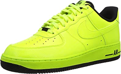 Nike Air Force 1 - Zapatos Unisex, Color Amarillo (Volt/Volt-Black ...