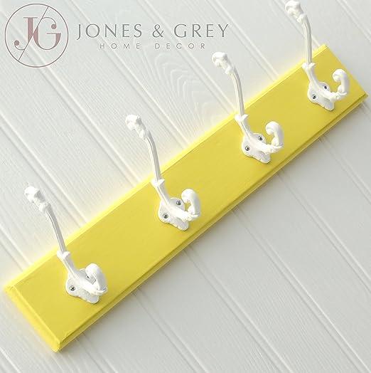 Jones & Grey Retro Vintage Amarillo y Blanco Montado en la ...