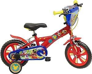 Disney Mickey Mouse - Bicicleta con ruedines: Amazon.es: Juguetes ...