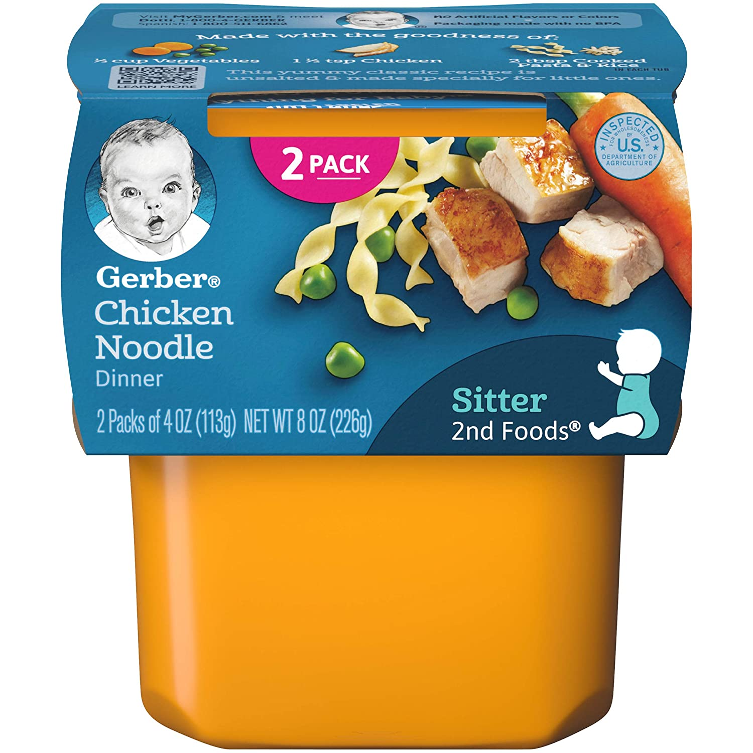Gerber 2nd Foods, Chicken Noodle, 7 Ounce (Pack of 8)