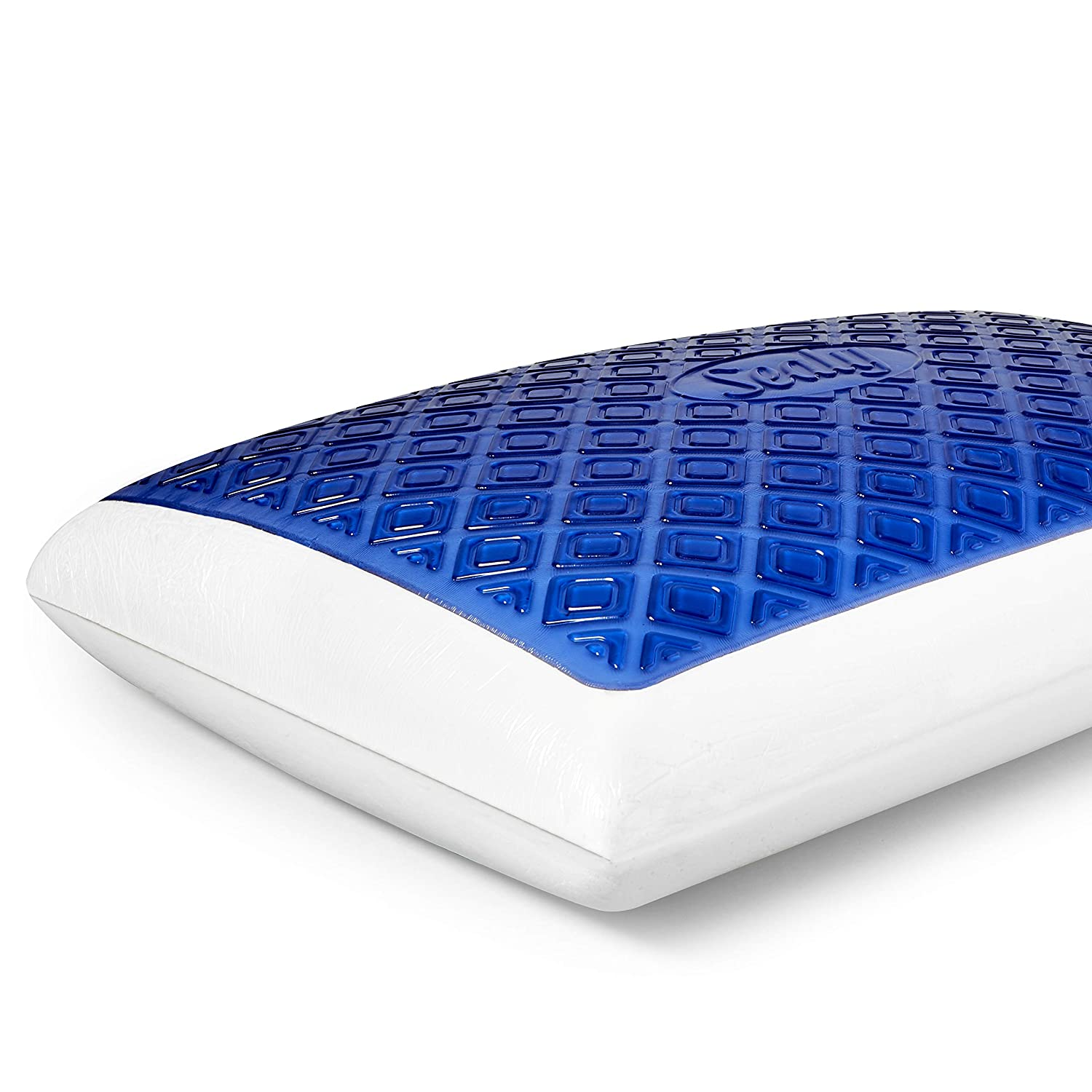 Sealy CoolGel Memory Foam Pillow, Standard, White