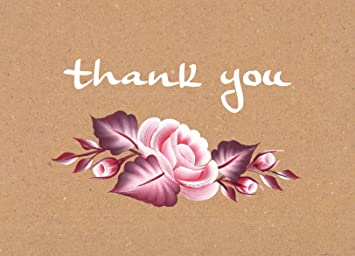Amazon thank you cards floral flower greeting cards for baby thank you cards floral flower greeting cards for baby showers weddings bridals m4hsunfo